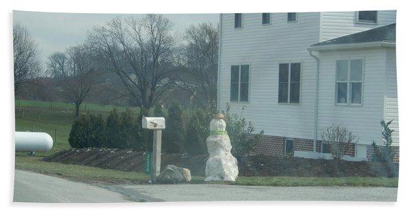 An Amish Snowman Hand Towel