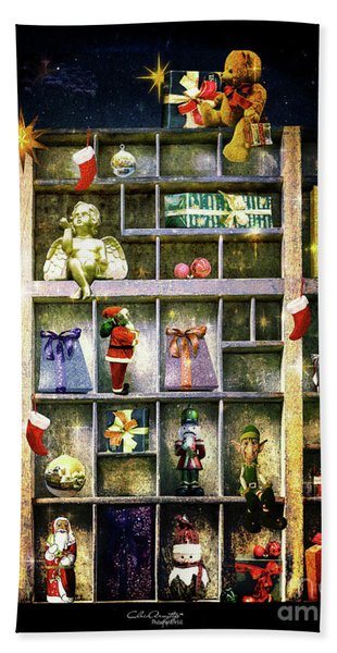 An Old Fashioned Christmas Wish Hand Towel