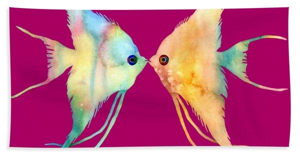 Angelfish Kissing Bath Towel
