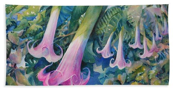 Angels Trumpets I Hand Towel