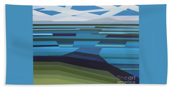 Angular Lake Bath Towel