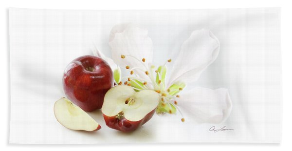 Apples And Blossom Bath Towel