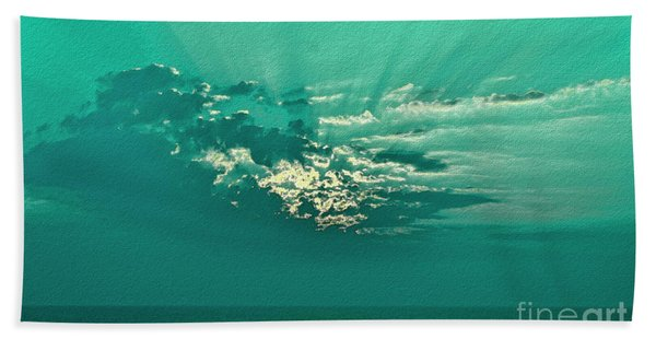 Aqua Sunset Bath Towel