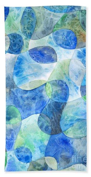 Aquatic Watercolor Bath Towel