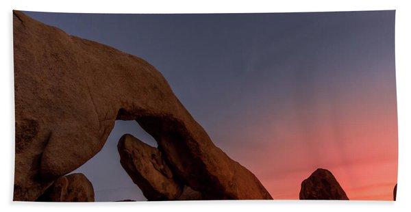 Arch Rock Sunset Hand Towel