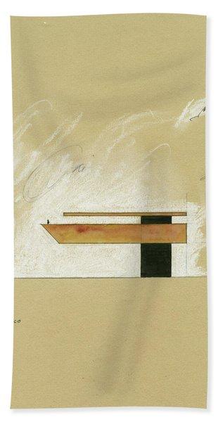 Architecture Sketch Bath Towel