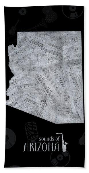 Arizona Map Music Notes 2 Bath Towel