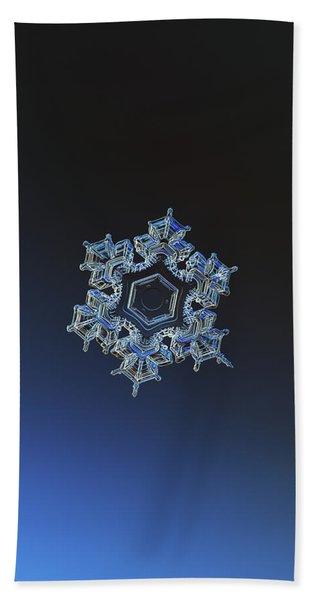 Snowflake Photo - Spark Bath Towel