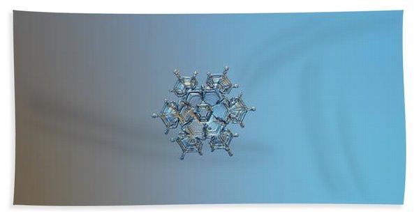 Snowflake Photo - Flying Castle Bath Towel