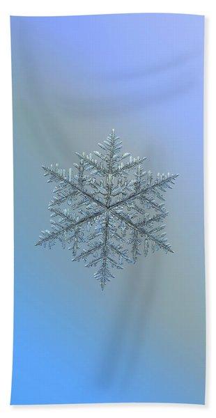 Snowflake Photo - Majestic Crystal Bath Towel