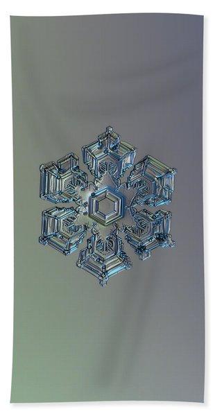 Snowflake Photo - Silver Foil Bath Towel