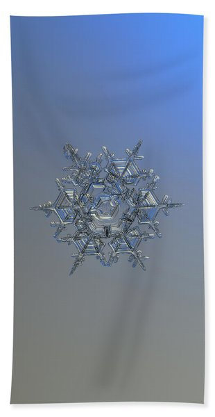 Snowflake Photo - Crystal Of Chaos And Order Bath Towel