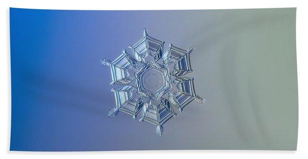 Snowflake Photo - Ice Relief Bath Towel