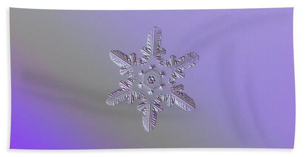 Snowflake Photo - Heart-powered Star Bath Towel