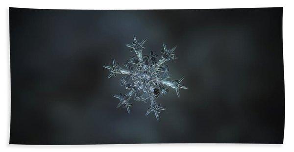 Snowflake Photo - Starlight II Bath Towel