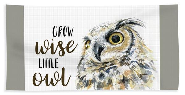 Grow Wise Little Owl Hand Towel