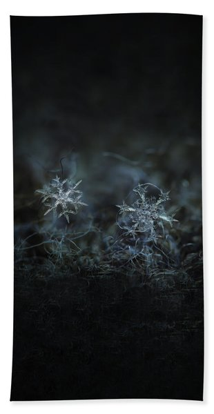 Snowflake Photo - When Winters Meets - 2 Hand Towel