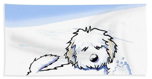 Snow Plow Pup Hooded Towel