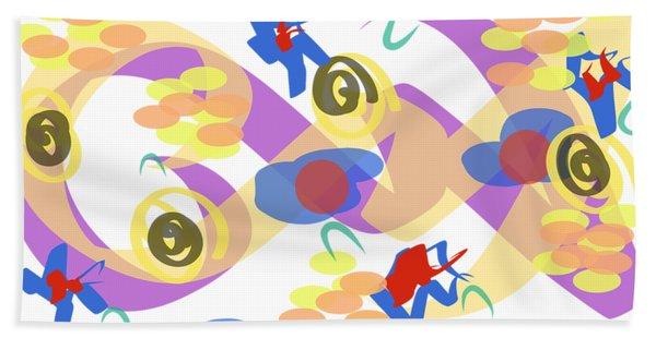 Bath Towel featuring the digital art Abstract Garden #5 by Bee-Bee Deigner