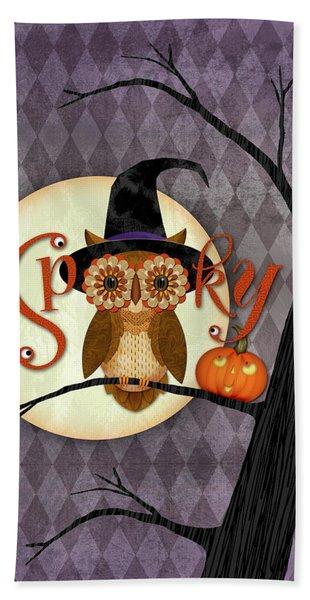 Spooky Owl Hand Towel