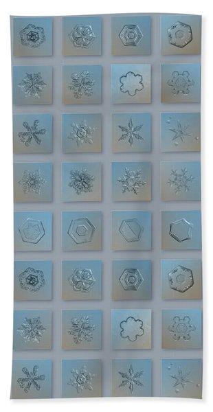 Snowflake Collage - Season 2013 Bright Crystals Bath Towel