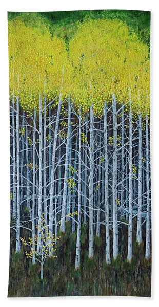 Aspen Stand The Painting Bath Towel