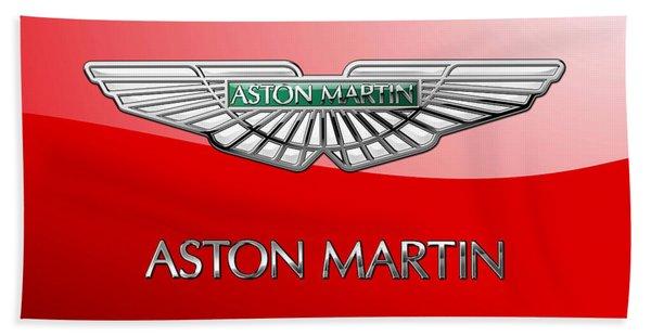 Aston Martin - 3 D Badge On Red Bath Towel