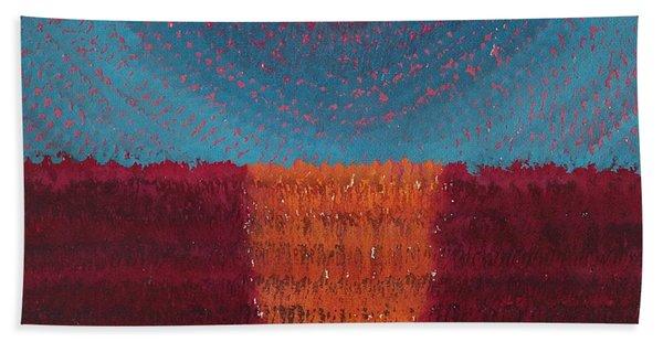 At World's Beginning Original Painting Hand Towel