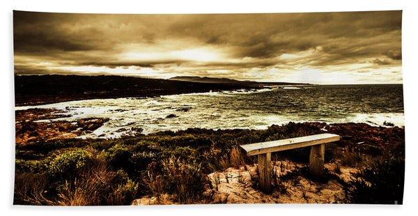 Atmospheric Beach Artwork Hand Towel