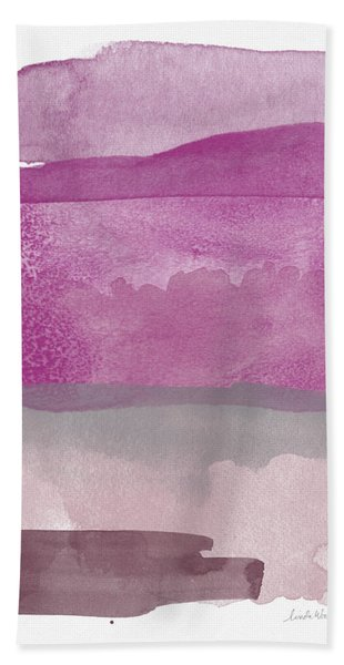 Aubergine Wash- Art By Linda Woods Hand Towel