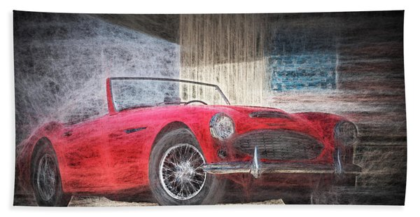 Austin Healey Chalk Study 4 Bath Towel