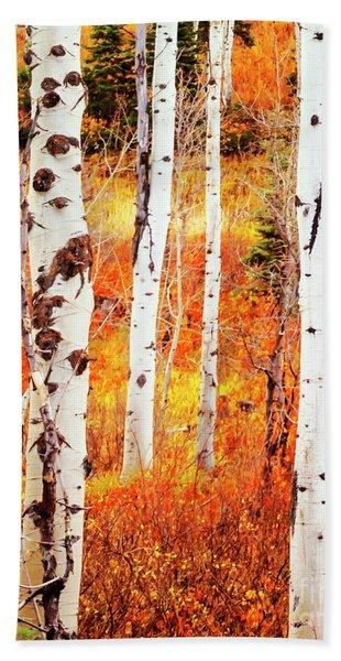 Autumn Aspens Hand Towel