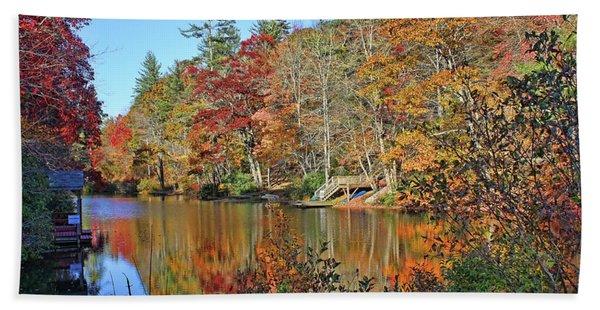 Autumn At The Lake 2 Hand Towel