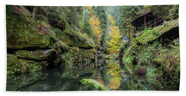 Autumn In The Kamnitz Gorge Hand Towel