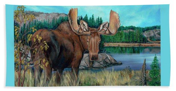 Autumn Moose Bath Towel