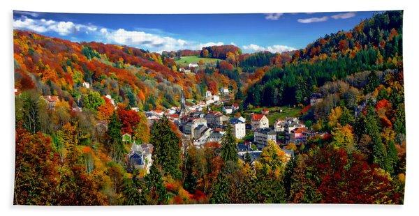 Autumn Panorama Hand Towel