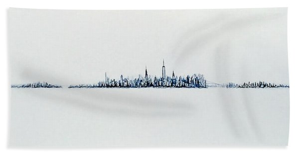 Autumn Skyline Hand Towel