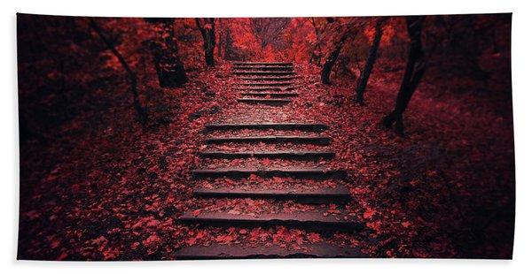 Autumn Stairs Bath Towel