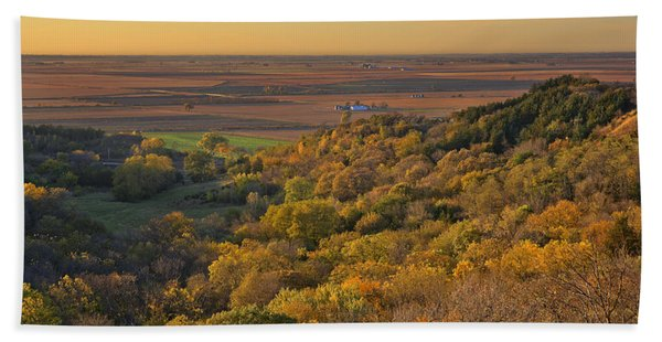Autumn View At Waubonsie State Park Hand Towel