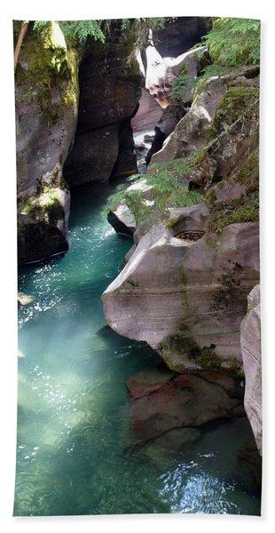 Avalanche Creek Glacier National Park Bath Towel