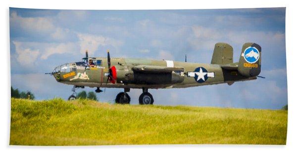B-25 Landing Original Hand Towel