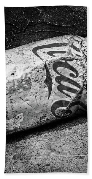 B And W Coke Can Hand Towel