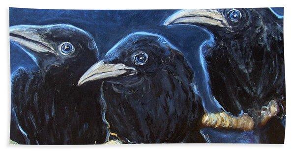 Baby Crows Bath Towel
