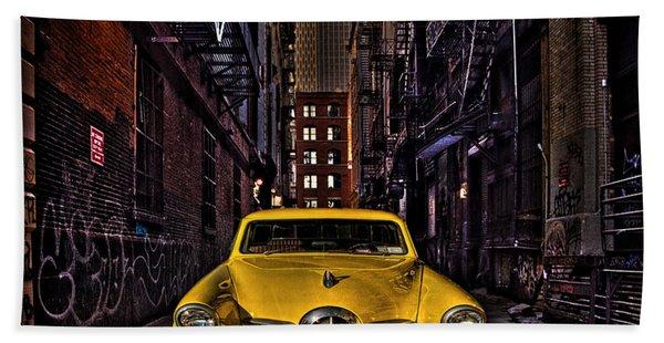 Back Alley Taxi Cab Hand Towel