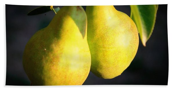 Backyard Garden Series - Two Pears Bath Towel