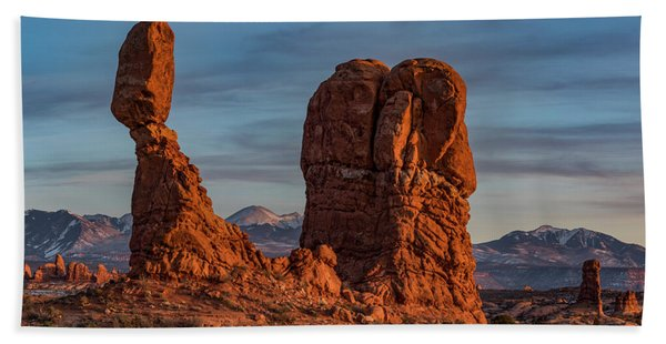 Balanced Rock Sunset Hand Towel