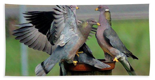 Band-tailed Pigeons #1 Bath Towel