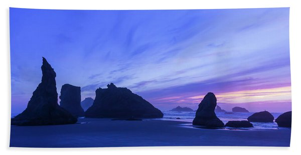 Bandon Blue Hour Hand Towel