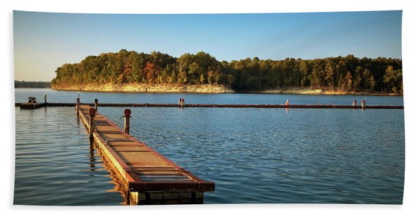 Barren River Lake Dock Bath Towel