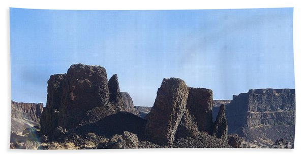Basalt Columns - The Ice Age Flood Hand Towel